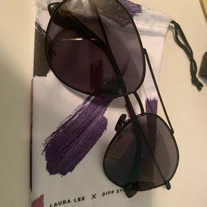 Laura Lee x Diff Eyewear sunglasses